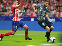Atletico Madrid's midfielder Gabi; Malaga's forward Borja