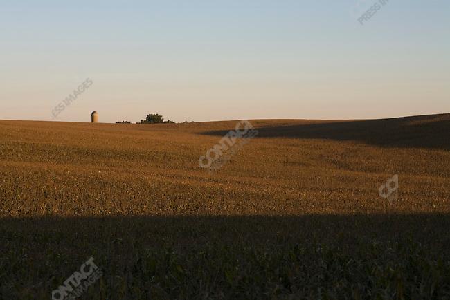 On Mike Korth's farm, located near Randolph, Nebraska. Nebraska, September 14, 2007.