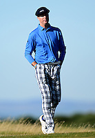 Ex-Cricketer Michael Vaughan looks on during Round 1 of the 2015 Alfred Dunhill Links Championship at the Old Course, St Andrews, in Fife, Scotland on 1/10/15.<br /> Picture: Richard Martin-Roberts | Golffile