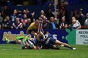 7th September 2017, Beaumont Legal Stadium, Wakefield, England; Betfred Super League, Super 8s; Wakefield Trinity versus St Helens; TongaBill Tupou of Wakefield Trinity scores a try