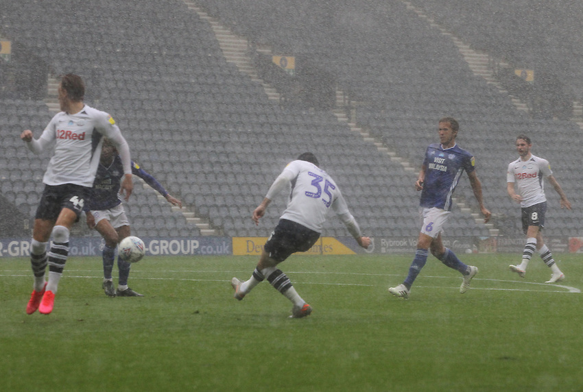 Preston North End's David Nugent misses an easy chance<br /> <br /> Photographer Mick Walker/CameraSport<br /> <br /> The EFL Sky Bet Championship - Preston North End v Cardiff  City - Saturday 27th June 2020 - Deepdale Stadium - Preston<br /> <br /> World Copyright © 2020 CameraSport. All rights reserved. 43 Linden Ave. Countesthorpe. Leicester. England. LE8 5PG - Tel: +44 (0) 116 277 4147 - admin@camerasport.com - www.camerasport.com