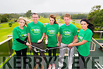 L-R Kathy Hartnett, Tom Dpoherty, Margaux Fourcade, Diarmaid Fraser and Daniell Favier at the launch of National Rehabilitation Hospital Golf Classic in the Killarney Golf and Fishing Club last Monday.