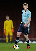 Blackpool U18's Will Avon<br /> <br /> Photographer Andrew Kearns/CameraSport<br /> <br /> Emirates FA Youth Cup Semi- Final Second Leg - Arsenal U18 v Blackpool U18 - Monday 16th April 2018 - Emirates Stadium - London<br />  <br /> World Copyright &copy; 2018 CameraSport. All rights reserved. 43 Linden Ave. Countesthorpe. Leicester. England. LE8 5PG - Tel: +44 (0) 116 277 4147 - admin@camerasport.com - www.camerasport.com