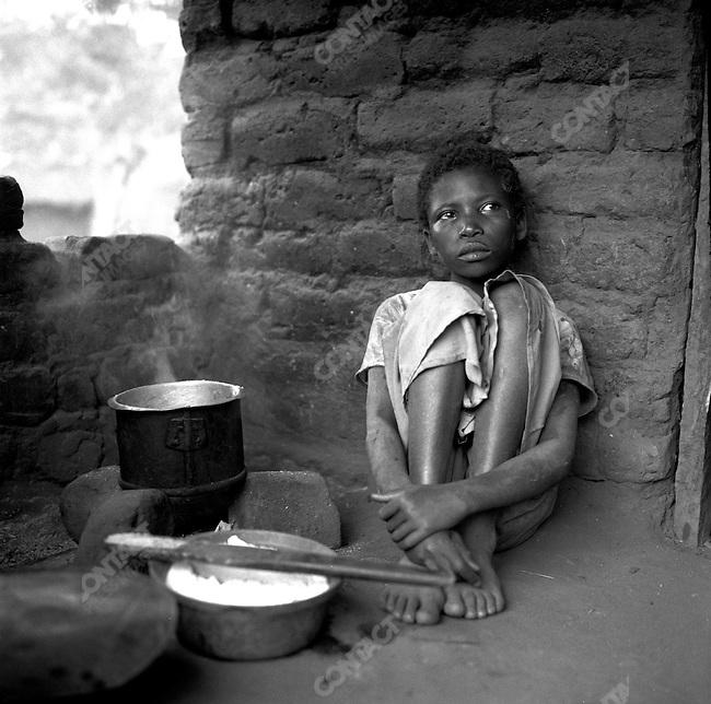 HIV-positive boy in Malawi. August 2006