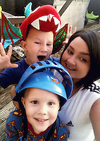 COPY BY TOM BEDFORD<br /> Pictured: Amy Jones (R) with her two children, image taken from her open facebook page.<br /> Re: A dying mum's bucket list wish is to meet rock band the Stereophonics to thank them for their music.<br /> Lifelong fan Amy Jones, 26, put meeting the Welsh rockers top of her wish list ahead of renewing her wedding vows.<br /> Mother-of-three Amy was diagnosed with breast cancer two years ago and it has spread around her body.<br /> Relatives are now raising funds to help her tick off her bucket list in the time she has left. <br /> Her sister Kirsty Gulliford, 22, said: &quot;Meeting the Stereophonics is number one and I'm determined to make it happen.