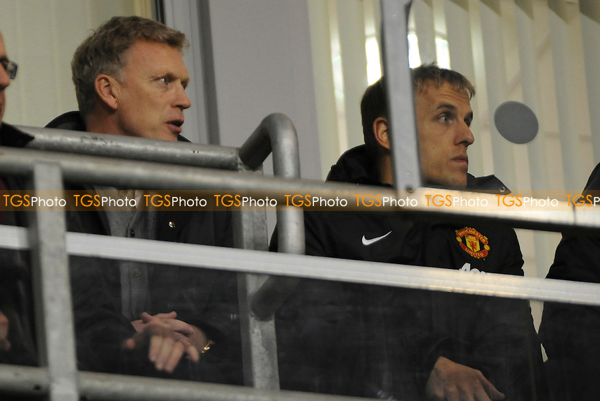Manchester United first team manager David Moyes attended the match with Phil Neville - Manchester United Under-19 vs Shaktar Donetsk Under-19- UEFA Youth League Football at Leigh Sports Village - 09/12/13 - MANDATORY CREDIT: Greig Bertram/TGSPHOTO - Self billing applies where appropriate - 0845 094 6026 - contact@tgsphoto.co.uk - NO UNPAID USE