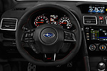 Car pictures of steering wheel view of a 2018 Subaru WRX STI Sport Premium 4 Door Sedan