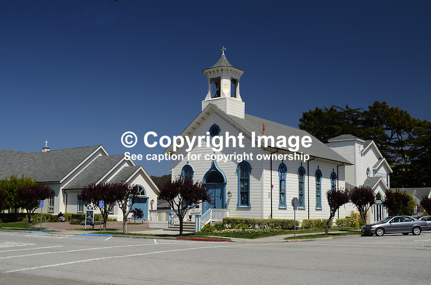 Methodist Church, Half Moon Bay, California, USA, 201305012297<br /> <br /> Copyright Image from Victor Patterson, 54 Dorchester Park, Belfast, UK, BT9 6RJ<br /> <br /> Tel: +44 28 9066 1296<br /> Mob: +44 7802 353836<br /> Voicemail +44 20 8816 7153<br /> Skype: victorpattersonbelfast<br /> Email: victorpatterson@me.com<br /> Email: victorpatterson@ireland.com (back-up)<br /> <br /> IMPORTANT: If you wish to use this image or any other of my images please go to www.victorpatterson.com and click on the Terms &amp; Conditions. Then contact me by email or phone with the reference number(s) of the image(s) concerned.