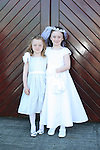 Ziva and Lainey Cussen at the Fatima Communion in St. Marys Church...Photo NEWSFILE/Jenny Matthews.(Photo credit should read Jenny Matthews/NEWSFILE)....This Picture has been sent you under the condtions enclosed by:.Newsfile Ltd..The Studio,.Millmount Abbey,.Drogheda,.Co Meath..Ireland..Tel: +353(0)41-9871240.Fax: +353(0)41-9871260.GSM: +353(0)86-2500958.email: pictures@newsfile.ie.www.newsfile.ie.FTP: 193.120.102.198.