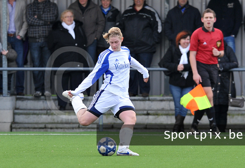 Club Brugge Dames - Rassing Harelbeke : Sharon Vervaeke.foto DAVID CATRY / Vrouwenteam.Be