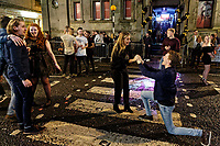 2017 12 31 New Year revellers in Wind Street, Swansea, UK