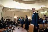 Former National Security Council Russia expert Fiona Hill and Counselor for Political Affairs at the U.S. Embassy in Ukraine David Holmes arrive to testify before the U.S. House Permanent Select Committee on Intelligence on Capitol Hill in Washington D.C., U.S., on Thursday, November 21, 2019.<br /> <br /> Credit: Stefani Reynolds / CNP
