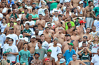 SÃO PAULO, SP, 17 DE FEVEREIRO DE 2013 - CAMPEONATO PAULISTA - CORINTHIANS x PALMEIRAS: Torcida do Corinthians antes da partida Corinthians x Palmeiras, válida pela 8ª rodada do Campeonato Paulista de 2013, disputada no estádio do Pacaembu em São Paulo. FOTO: LEVI BIANCO - BRAZIL PHOTO PRESS.