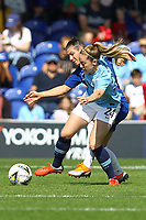 Keira Walsh of Manchester City Women and Ramona Bachmann of Chelsea Ladies during Chelsea Women vs Manchester City Women, FA Women's Super League FA WSL1 Football at Kingsmeadow on 9th September 2018