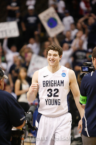 Trent Nelson  |  The Salt Lake Tribune.BYU's Jimmer Fredette as BYU defeats Gonzaga in the NCAA Tournament, men's college basketball at the Pepsi Center in Denver, Colorado, Saturday, March 19, 2011, earning a trip to the Sweet 16.