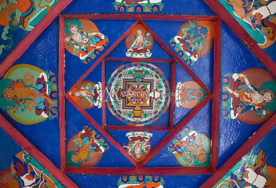 There's a lot of colorful Buddhist artwork to be found in Ladakh.  This painted relief was near the Shanti Stupa in Leh.
