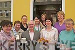COFFEE MORNING: Supporting the fundraiser for the Chernobyl Children's Fund at the Imperial Hotel, Tralee, on Wednesday were front l-r: Joan Griffin, Karina Daughton, Michael Deane, Siobha?n Clear and Kay Brennan. Back l-r: Ca?it Doyle (Imperial Hotel), Mary O'Keefe, Kay Deane and Mary Dolan.   Copyright Kerry's Eye 2008