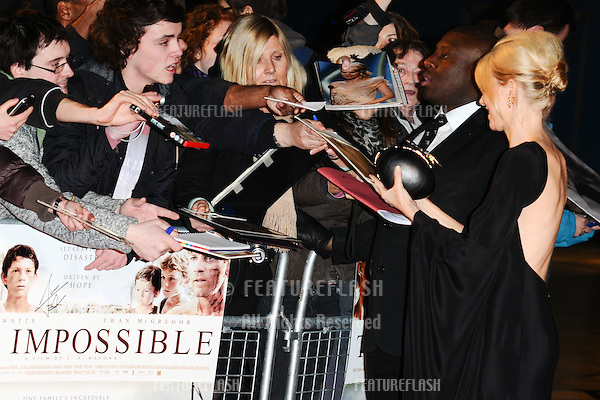 Naomi Watts arriving for the 'The Impossible' Premiere at the IMAX, Waterloo, London. 19/11/2012 Picture by: Steve Vas / Featureflash