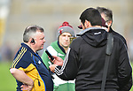 A disappointed Clare manager John Carmody faces the media following their Munster U-21 hurling quarter final against Limerick at Cusack park. Photograph by John Kelly.