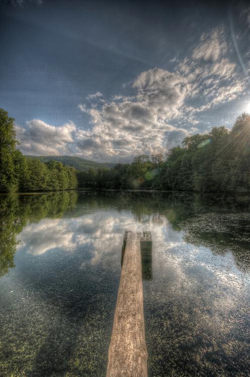 German forgotten castle.<br /> The casltes lake