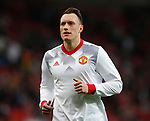 Phil Jones of Manchester United during the Europa League Semi Final 2nd Leg match at Old Trafford Stadium, Manchester. Picture date: May 11th 2017. Pic credit should read: Simon Bellis/Sportimage