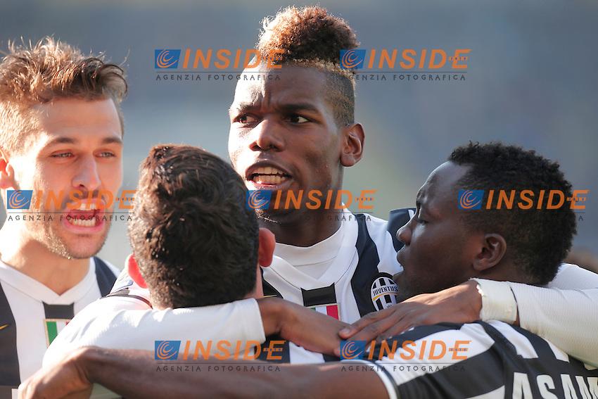 Paul Pogba Juventus, celebration, Verona 9-2-2014, Stadio Bentegodi, Football Calcio 2013/2014 Serie A, Hellas Verona - Juventus, Foto Marco Bertorello/Insidefoto