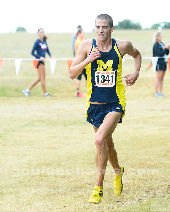 The University of Michigan men's cross country team compete at the 2013 Oklahoma State University's Cowboy Jamboree. September 28, 2013. Stillwater, OK