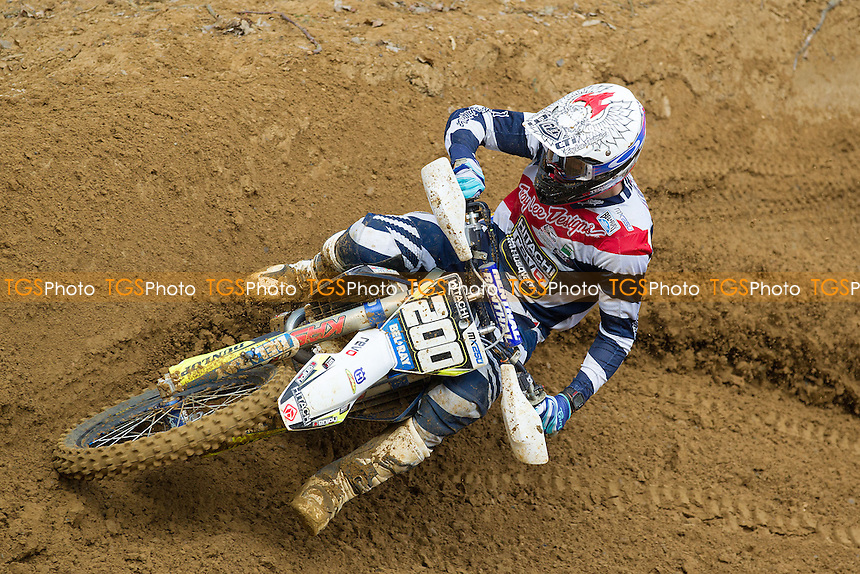 James Dunn, Hitachi Construction Machinery Revo Husqvarna during Maxxis ACU British MX Round Two at Canada Heights MX Circuit on 24th April 2016