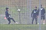 v.l. Hoffenheims Dennis Geiger (Nr.8), Hoffenheims Lukas Rupp (Nr.7) und verdeckt Hoffenheims Havard Nordtveit (Nr.6)  beim Training in der Bundesliga der TSG 1899 Hoffenheim.<br /> <br /> Foto &copy; PIX-Sportfotos *** Foto ist honorarpflichtig! *** Auf Anfrage in hoeherer Qualitaet/Aufloesung. Belegexemplar erbeten. Veroeffentlichung ausschliesslich fuer journalistisch-publizistische Zwecke. For editorial use only.