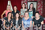 CHICKS ON TOUR: Sinead Moriarty, Marian Park,Tralee (seated 2nd from left) started her hen night celebrations in Cassidy's restaurant,Tralee last Saturday, also seated is l-r: Sandra O'Flaherty, Kathleen Moriarty and Diane O'Keeffe. Back l-r: Stephanie Driscoll, Cecilia McGarry, Mary Beades and Tara O'Carro