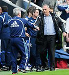 Newcastle's Kevin Keegan and Chelsea's Avram Grant. during the Premier League match at the St James' Park Stadium, Newcastle. Picture date 5th May 2008. Picture credit should read: Richard Lee/Sportimage