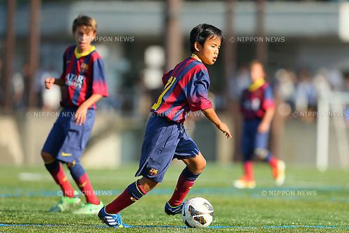 Takefusa Kubo (Barcelona), <br /> AUGUST 28, 2013 - Football / Soccer : U-12 Junior Soccer World Challenge 2013 friendly match between FC Barcelona - Kashima Antlers Junior in Tokyo, Japan. (Photo by AFLO SPORT)