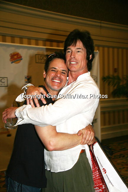 Christian LeBlanc and Ronn Moss - Official Daytime Emmy Awards gifting Suite on June 26, 2010 during 37th Annual Daytime Emmy Awards at Las Vegas Hilton, Las Vegas, Nevada, USA. (Photo by Sue Coflin/Max Photos)