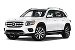 Stock pictures of low aggressive front three quarter view of a 2020 Mercedes Benz GLB GLB250 5 Door SUV