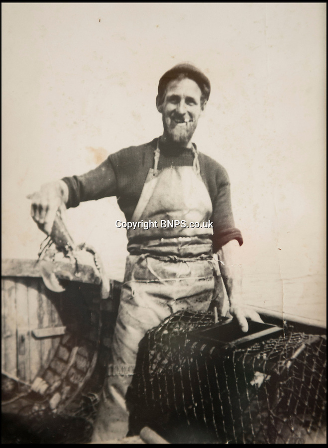 BNPS.co.uk (01202) 558833<br /> Picture: Peter Willows<br /> <br /> Granfather Jim in the 1950's<br /> <br /> All at sea - In a fast changing world the Dorset fishing family still going strong after 350 years.<br /> <br /> Young Levi Miller is ensuring the survival of his family's 350-year-old seafaring tradition - by becoming it's tenth generation of Dorset fisherman. The 16-year-old's ancestors have been fishing off the Dorset coast since Henry Miller first set sail in the 1670s. <br /> <br /> Levi has now become the latest family member to choose a life on the waves and has begun learning the trade onboard his father's fishing boat. Levi got hooked on fishing as a child and despite only just finishing school, he says there is nowhere else he would rather be than hauling in fish alongside his dad and to play his own part in his family's historic trade.
