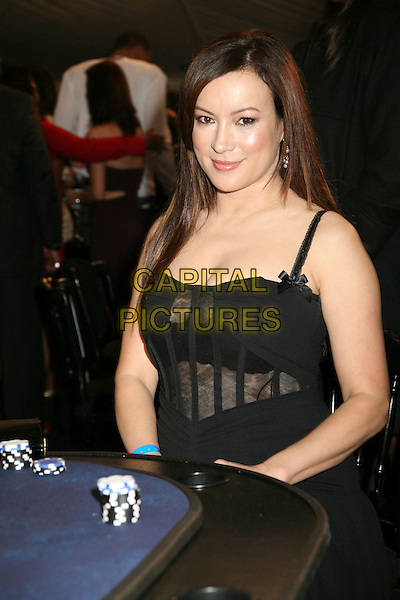 JENNIFER TILLY.2nd Annual Celebrity Poker Tournament Benefiting The Urban Health Institute at the Playboy Mansion, Holmby Hills, California, USA..April 28th, 2007.half length black cleavage chips gambling dress see through thru bra.CAP/ADM/BP.©Byron Purvis/AdMedia/Capital Pictures