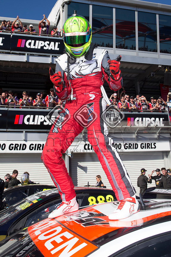 James Courtney of the Holden Racing Team winner of the Clipsal 500, Event 01 of the 2014 Australian V8 Supercars Championship Series at the , , , March 02, 2014<br /> &copy; Sport the library / Mark Horsburgh