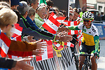 Corinne Rivera (BRA) at sign on before the start of the Women Elite Road Race of the 2018 UCI Road World Championships running 156.2km from Kufstein to Innsbruck, Innsbruck-Tirol, Austria 2018. 29th September 2018.<br /> Picture: Innsbruck-Tirol 2018/BettiniPhoto | Cyclefile<br /> <br /> <br /> All photos usage must carry mandatory copyright credit (&copy; Cyclefile | Innsbruck-Tirol 2018/BettiniPhoto)