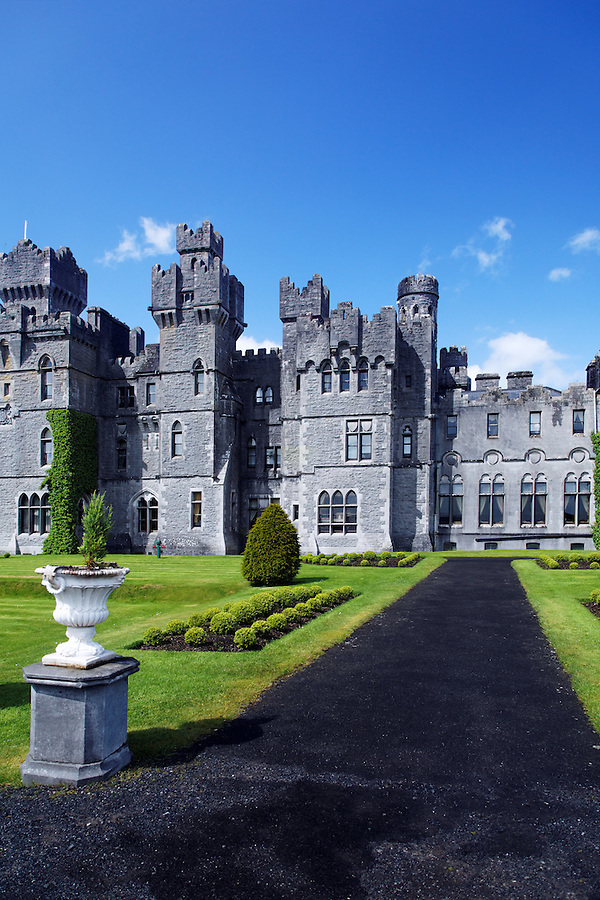 Park grounds at Ashford Castle, Cong, County Galway, Republic of Ireland