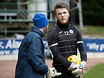 St Johnstone Training&hellip;.17.03.17<br />Keeper Zander Clark pictured during training this morning at McDiarmid Park with goalkeeping coach Paul Mathers ahead of tomorrow&rsquo;s trip to Motherwell.<br />Picture by Graeme Hart.<br />Copyright Perthshire Picture Agency<br />Tel: 01738 623350  Mobile: 07990 594431