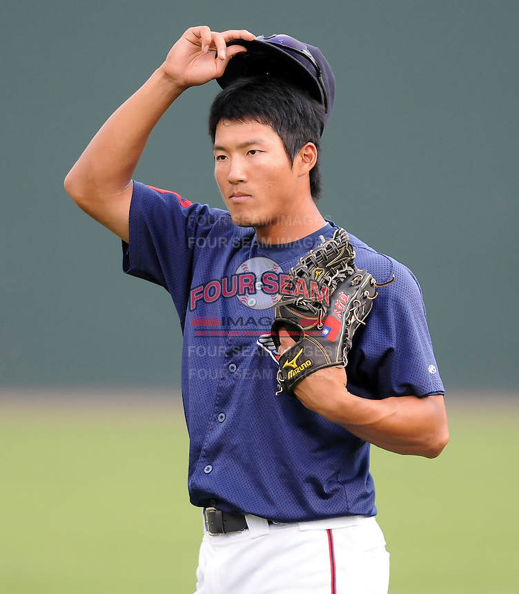 July 21, 2008: Outfielder Che-Hsuan Lin (24) of the Greenville Drive, Class A affiliate of the Boston Red Sox, in a game against the Hagerstown Suns at Fluor Field at the West End in Greenville, S.C. Photo by:  Tom Priddy/Four Seam Images