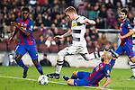 FC Barcelona's Samuel Umiti, Javier Mascherano, VfL Borussia Monchengladbach's Andre Hahn  during Champions League match between Futbol Club Barcelona and VfL Borussia Mönchengladbach  at Camp Nou Stadium in Barcelona , Spain. December 06, 2016. (ALTERPHOTOS/Rodrigo Jimenez)