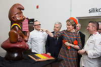 Queen Mathilde of Belgium attends a Belgian Food' event in Montreal while on a State Visit - Canada