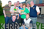 Jonathan and Leo Casey, Myles, Ger and Aidan Reidy, Peter Wickham, Joan Gill, Donal Kelly and Pat Gill at the Camel Race Night in aid of the Kerry Friends of the Irish Motor Neurone Disease held in Darby O'Gills Killarney on Saturday night.