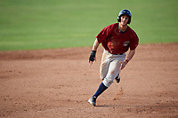Mahoning Valley Scrappers shortstop Jesse Berardi (22) runs the bases during the first game of a doubleheader against the Batavia Muckdogs on August 28, 2017 at Dwyer Stadium in Batavia, New York.  Mahoning Valley defeated Batavia 6-3.  (Mike Janes/Four Seam Images)