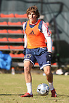 16 November 2007: Wells Thompson. The New England Revolution practiced at the RFK Stadium Auxiliary Field in Washington, DC two days before playing in MLS Cup 2007, Major League Soccer's championship game.