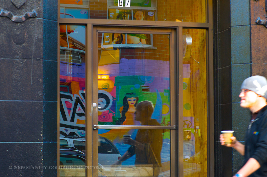 Colorful Wall Paintings on Lower East Site of Manhattan