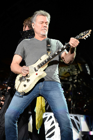 WEST PALM BEACH, FL - SEPTEMBER 15: Eddie Van Halen of Van Halen performs at The Perfect Vodka Amphitheater on September 15, 2015 in West Palm Beach Florida. Credit: mpi04/MediaPunch