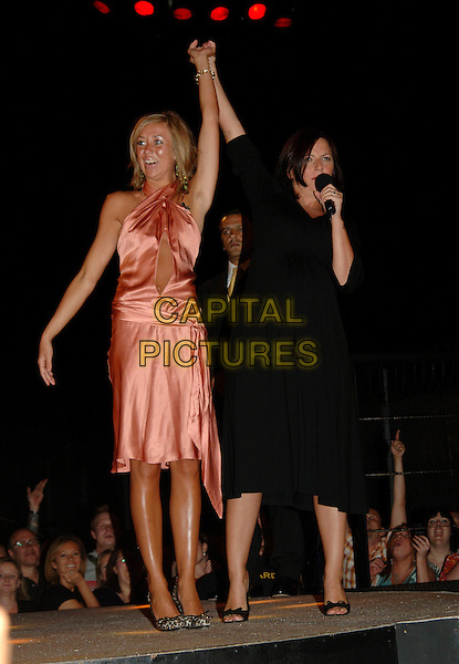 GRACE & DAVINA McCALL..Eviction from Big Brother 7..16th June 2006, Borehamwood, England ..Ref: PL..BB7 full length pregnant..www.capitalpictures.com..sales@capitalpictures.com..©Phil Loftus/Capital Pictures