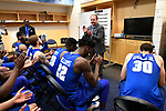 MILWAUKEE, WI - MARCH 16:  Middle Tennessee Blue Raiders Head Coach Kermit Davis applauds his players during the 2017 NCAA Men's Basketball Tournament held at BMO Harris Bradley Center on March 16, 2017 in Milwaukee, Wisconsin. (Photo by Jamie Schwaberow/NCAA Photos via Getty Images)